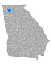 Karte Von Gordon In Georgia
