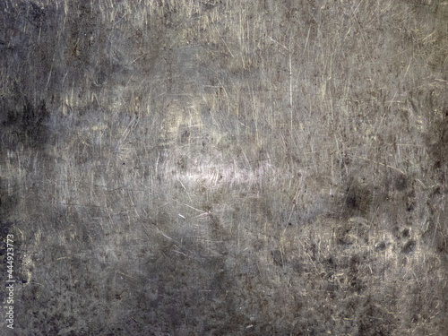 Murais de parede bare scratched thick steel plate workbench or anvil background and texture