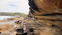 Sandstone Cliff  Cape Banks Sydney In The Botany Kamay Bay National