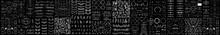 Huge Mega Big Collection Or Set Of Vector Decorative Elements For Design. Hand Drawn Line, Border, Frame Vector Design Element Set. Decorative Dividers. Text Lines Vintage Hand Drawn Border Decoration