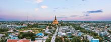 Wat Phra Pathom Chedi Ratchaworamahawihan Or Wat Phra Pathommachedi Ratcha Wora Maha Wihan, In Nakhon Pathom, Thailand