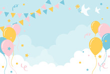 Festive Vector Background With Balloons In The Sky For Banners, Cards, Flyers, Social Media Wallpapers, Etc.