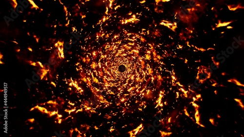 Photo Abstract Fire Sparks Swirl Background
