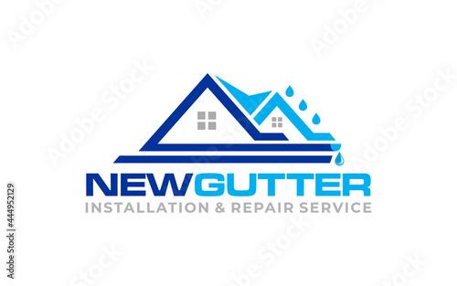 Obraz na plátne Illustration graphic vector of gutter installation and repair service logo desig