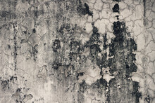 Old Mottled Stone Wall. Suitable As A Background.