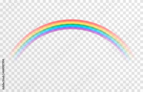 Fotografie, Obraz Vector rainbow on isolated transparent background