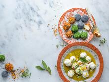 Cheese Truffles, And Marinated Yoghurt Cheese Balls