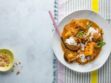Butter Cauliflower Curry. Indian Cuisine.