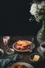 Pretzel And Tsoureki Breakfast Scene