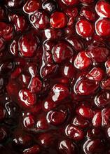 Close Up Of Cherry Sauce (Cherries Jubilee)