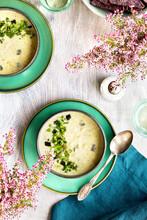 Roasted Poblano Cilantro White Bean Soup