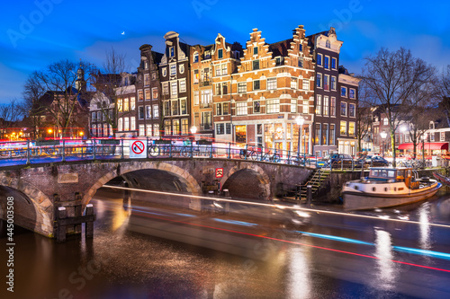 Amsterdam, Netherlands Bridges and Canals Fotobehang