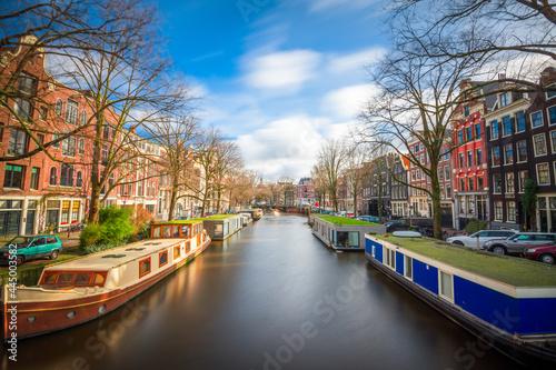 Fotografering Amsterdam, Netherlands historic canals