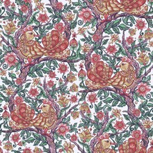 Floral Seamless Pattern Background With Bird In Ethnic Style, Indian Ornamental Surface Design