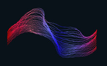 Visualization Of Waves, Modern Background, Vector