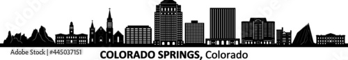 Fotografering COLORADO Springs Colorado USA City Skyline Vector