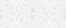 Background White Abstract Textured Ethnic