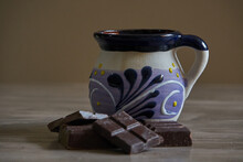 Cup Of Chocolate And Chocolate Bar