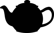 Vector Illustration Of Black Silhouette Of A Teapot