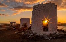 Ruins Of Wind Mill In Bodrum