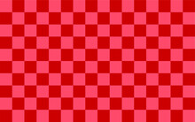 Checkered Pattern Background. Red. Geometric Ethnic Pattern Seamless. Seamless Pattern. Design For Fabric, Curtain, Background, Carpet, Wallpaper, Clothing, Wrapping, Batik, Fabric,Vector Illustration