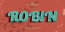 Robin Text Editable Text Effect