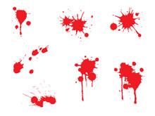 血しぶき 血の跡 セット