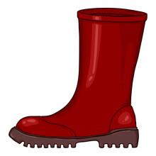 Vector Cartoon Rubber Boots Illustration
