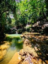 Pha Tad Waterfall In Kanchanaburi, Thailand