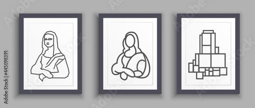 Fotografía Mona Lisa graphic illustration posters