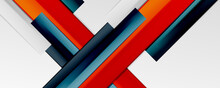 Multicolored Lines Background. Design Template For Business Or Technology Presentations, Internet Posters Or Web Brochure Covers