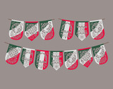 group of mexican garlands