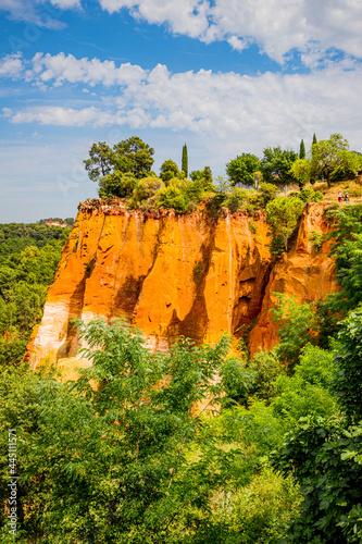 Les falaises d'Ocre de Roussillon Fototapet