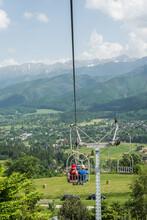 Ski Lift In The Tatra Mountains