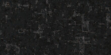 Grunge Grain Grey And Black Scratched Cracked And Smeared Cement Or Stone Wall Background, Monochrome Concrete Rocks Design