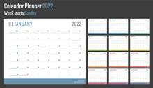 2022 Year Calendar, Calendar Design For 2022 Starts Sunday