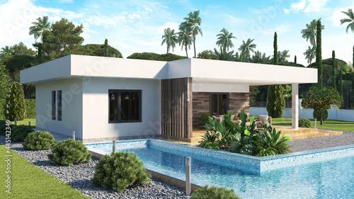 Canvastavla Modern Villa with Swimming Pool