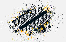 Splatter Tire Track Background Design