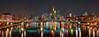 Die nächtliche Skyline von frankfurt am Main