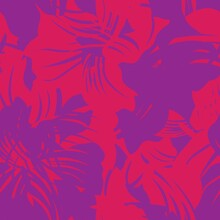 Purple Floral Seamless Pattern Background