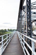 Pedestrian Crossing Over Old Truss Bridge