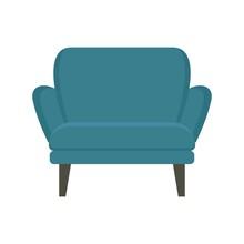 Modern Armchair Icon Flat Isolated Vector