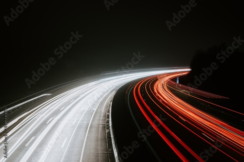 Obraz na plátně traffic on the highway