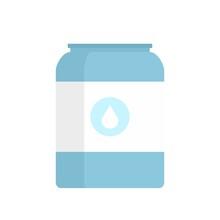 Milk Jar Icon Flat Isolated Vector