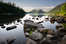 Beautiful View Of Jordan Pond In Acadia National Park On Mount Desert Island, Maine, USA
