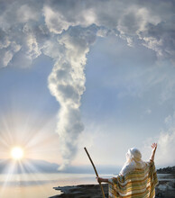 Moses And The Pillar Of Cloud By The Sea