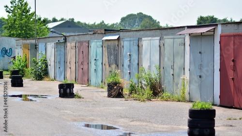 Fotografie, Obraz Old private garages for cars