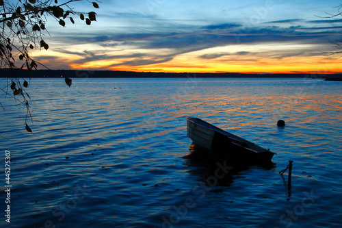 Lubogoszcz plaża zachód słońca