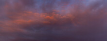 Weather Conditions And Climate Concept. Painterly Radiant Sky Backdrop.
