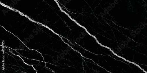 Fotografering black stone marble texture with high gloss texture for interior floor and wall marble design and ceramic granite tiles surface